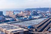 Durban Harbor Car Terminal — Stock Photo