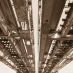 Bridge Steel Structure Sepia — Stock Photo #65245059