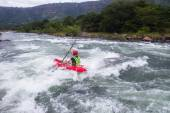 Kayaks River Action — Stockfoto