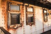 Ship Metal Rivets Porthole — Foto de Stock