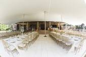 Tent Dining Decor Party — Stock Photo