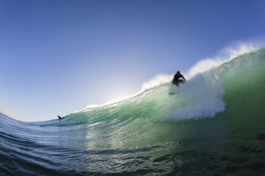 Surfing Surfer Take Off Wave
