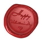 Wax seal - Happy Valentine's Day — Stockfoto
