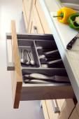 Kitchen macro photo — Stock Photo