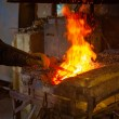 Metal casting in the workshop — Stock Photo #63392153