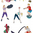 Functional Fitness Exercises — Stock Vector #53416505