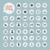 Business icons and itinerary icons Set on blue paper set.1 — Stock Vector