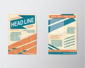 Brochure Flyer design Layout vector Abstract Modern — Stock Vector