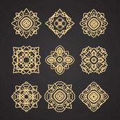 Vector set of thai art design — Stock Vector