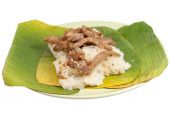 Sticky Rice and Pork fried — Stok fotoğraf