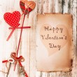 Valentine's day background. Vintage card. — Stock Photo #61514975