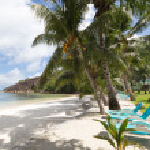 Постер, плакат: Exotic Seychelles beach