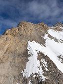 Little snow on the mountain tops — Stock Photo