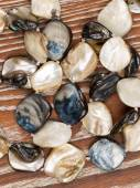 Beads made of natural nacre — Stock Photo