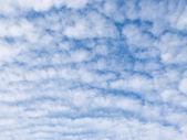 Birçok beyaz kabarık cumulus bulutları — Stok fotoğraf