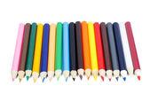 цвет карандаша лежа на белом фоне — Стоковое фото