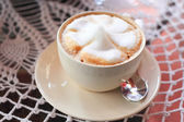Hot coffee cappucino — Stock Photo