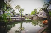 Kurashiki river and ancient building in Kurashiki city. — Stock Photo