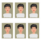 Women face types. Vector illustration — Stock Vector