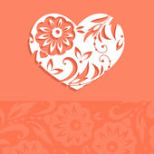 Greeting card for Valentine's day vector — Stock Vector