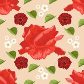 Fondo transparente con rosas. ilustración vectorial — Vector de stock