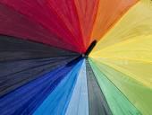 Umbrella with rainbow colors — Stock Photo