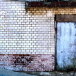 Grunge brick wall with old door — Stock Photo #60258079