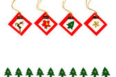 Christmas ornaments background — Stock Photo
