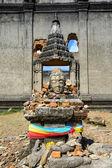 Sunken temple, sinking temple at Sangkhlaburi district, Kanchana — Стоковое фото