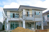 Construction of new home building — Stock Photo