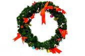 Christmas wreath isolated on white background — Stock Photo