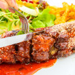 Barbecued pork spare ribs — Stock Photo #63369127