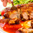 Barbecued pork spare ribs — Stock Photo #63369595