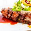 Barbecued pork spare ribs — Stock Photo #63439677