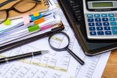 Business financial accounting calculate — Stock Photo