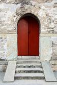 Ancient old wooden door — Stock Photo