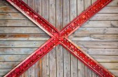 Old wooden and cross metal — Stock Photo