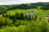 The village in the mountains of the Southern Urals. Russia — Stock Photo