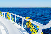 Sea view from the deck of a ship — Foto de Stock