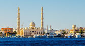 View from the sea to Hurghada. Egypt — ストック写真