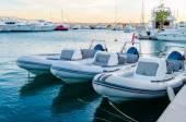 Marina boats and yachts in the evening — Stockfoto