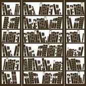 Bookcase full of books — Stock Vector