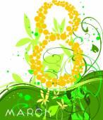 Women's Day greetings card — Stok Vektör