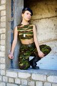 Menina de uniforme — Fotografia Stock