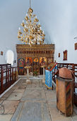 Interior of an orthodox church in Naoussa, Paros, Greece — Stock Photo