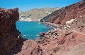 Rode strand in santorini, griekenland — Stockfoto