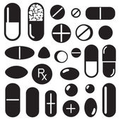 Pills and capsules icon — Stock Vector