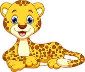Cheetah cartoon — Stock Vector