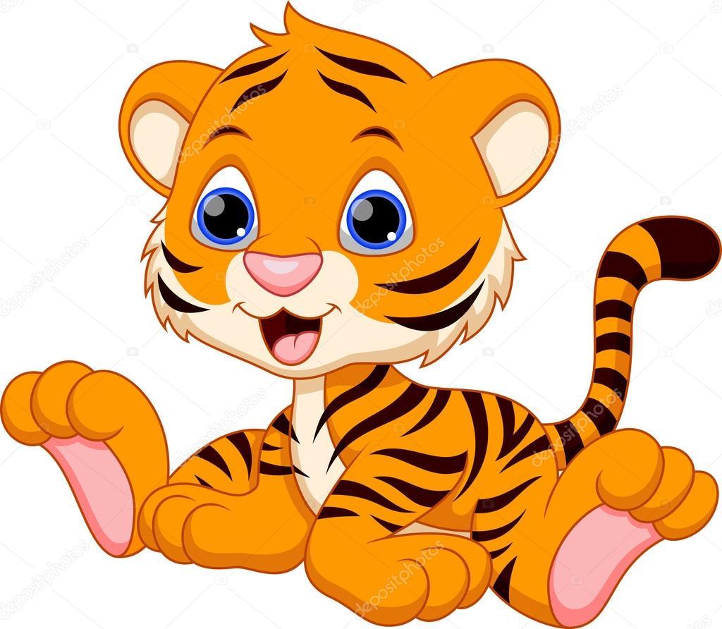 Cartone animato tigre — vettoriali stock irwanjos