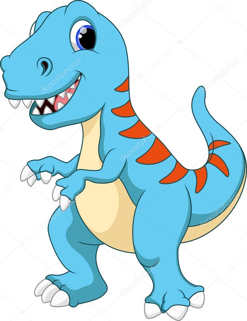 Download Dinosaur Cartoon Stock Illustration 53086971